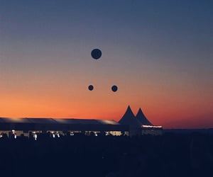balloons, festival, and sky image
