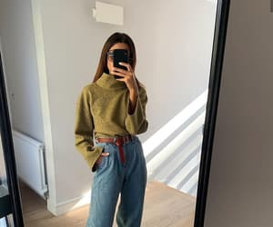 accesories, baggy jeans, and belt image