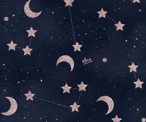 stars, wallpaper, and moon image