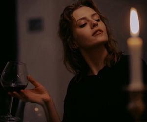 girl and wine image