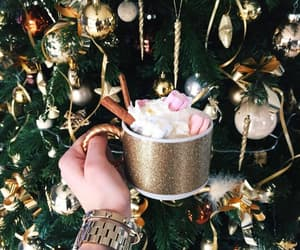 christmas, coffee, and tree image