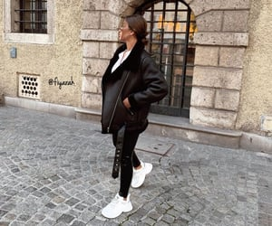 shoes sneakers, ootd tenue love, and stylish classy basic image