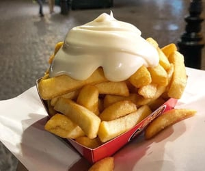 food, fries, and mayo image