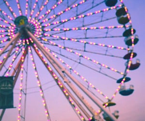 beautiful, sunset, and ferriswheel image
