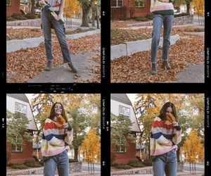 autumn, striped sweater, and korkease image