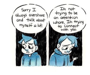anxiety, cartoon, and emotions image