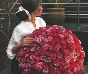 rose, flowers, and fashion image