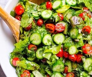salad, healthy, and delicious image