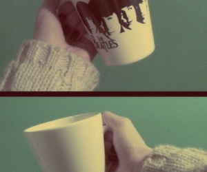 beatles, cup, and girl image