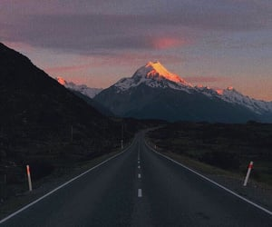 aesthetic, Road Trip, and sunset image