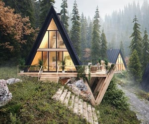 nature, house, and home image