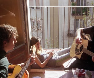 friends, music, and guitar image