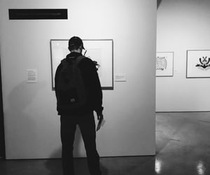 art gallery, best friend, and boyfriend image
