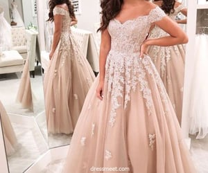 dress, evening dress, and prom dresses image