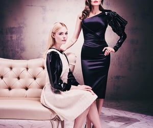 Elle Fanning and Angelina Jolie image
