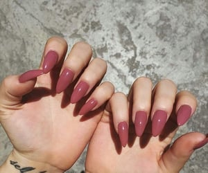 nails, tattoo, and pink image