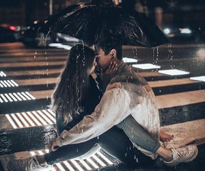 rain, umbrella, and love image