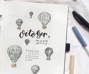 balloon, mouth, and october image