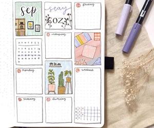 September, week, and bullet journal image