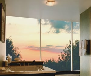 luxury, bathroom, and sunset image