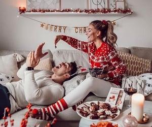 christmas, couple, and love image