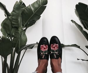 denim, roses, and street style image