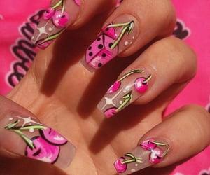 cherry, nail art, and nails image