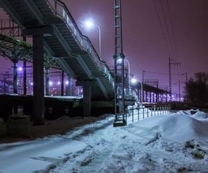 purple, dark, and neon image