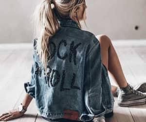 fashion and denim jacket image