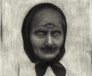 baba yaga, witch, and creepy image