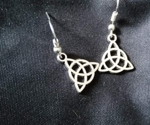 etsy, jewellery, and silver earrings image