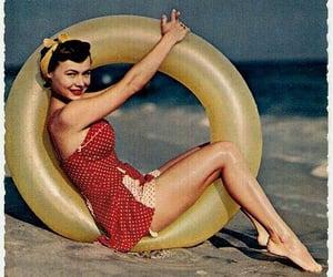 1950s, beach, and fashion image