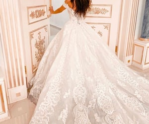 bride, Couture, and fairytale image