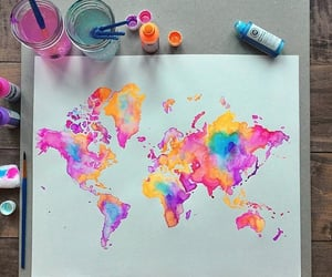 art, geography, and paint image