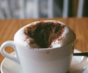 coffee, cappuccino, and yummy image