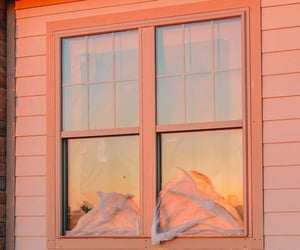 peach, aesthetic, and window image