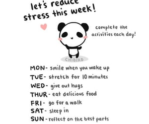 panda, stress, and week image
