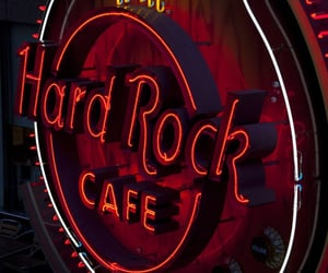 aesthetic, hard rock cafe, and red image