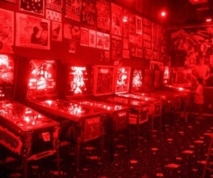 aesthetic, red aesthetic, and arcade image
