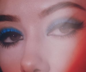 eyes, makeup, and retro image