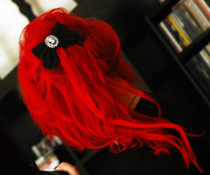 colored hair, hair style, and scene image