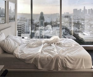 view, bedroom, and city image