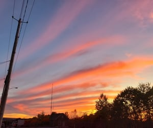 clouds, orange, and pink image