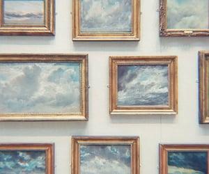 art, blue, and sky image