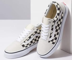 black and white, sneakers, and style image