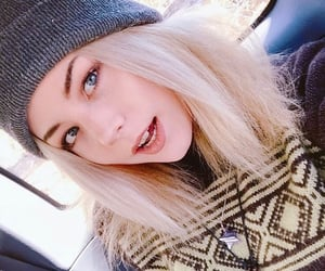 alt, blonde hair, and sweater image