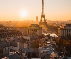 city, paris, and eiffel tower image
