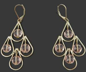 etsy, pierced ears, and faceted crystal image