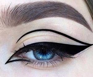 black, makeup, and beauty image