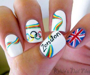 london, nails, and olimpic games image
